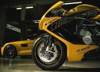 MV Agusta и Mercedes выпустили мотоцикл в часть купе AMG GT