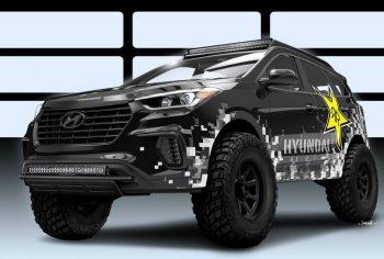 Тюнеры добавили закись азота для усиления кроссовера Hyundai Santa Fe